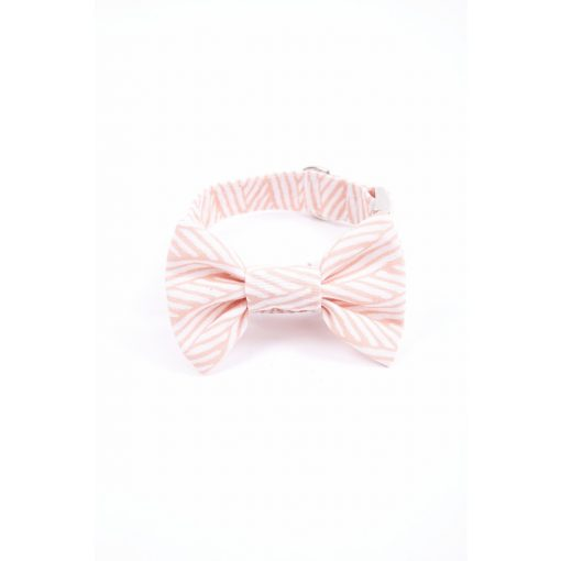 Pink Daisy bow tie